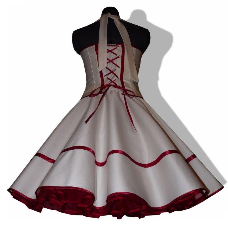 50er Brautkleid Korsage Rockabillyhochzeit creme zum Petticoat, Tanz
