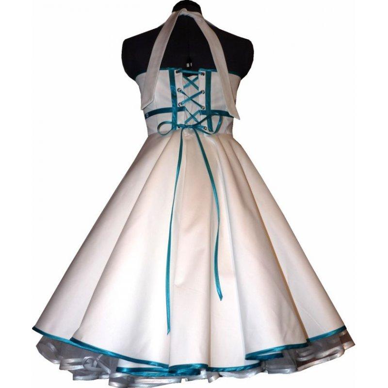 50er jahre brautkleid zum petticoat wei band t rks 36 40. Black Bedroom Furniture Sets. Home Design Ideas