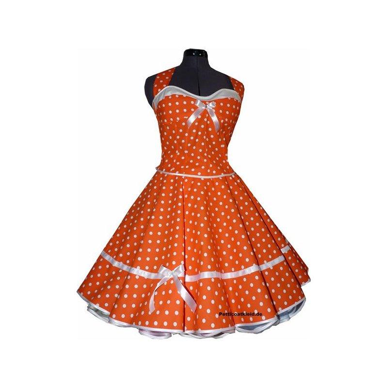 50er Kleid Punkte Petticoat türkis grün blau orange pink braun