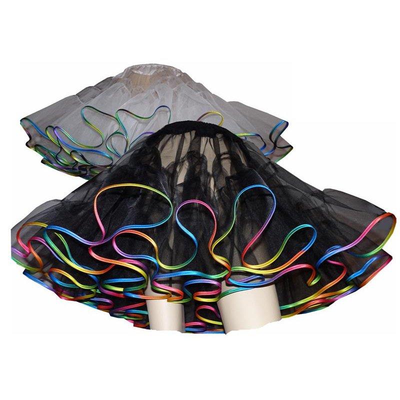 petticoat organdy schwarz oder wei regenbogen grafittygr. Black Bedroom Furniture Sets. Home Design Ideas