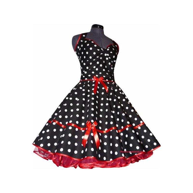 punkte petticoat kleid 2 schwarz tupfen wei 18mm. Black Bedroom Furniture Sets. Home Design Ideas