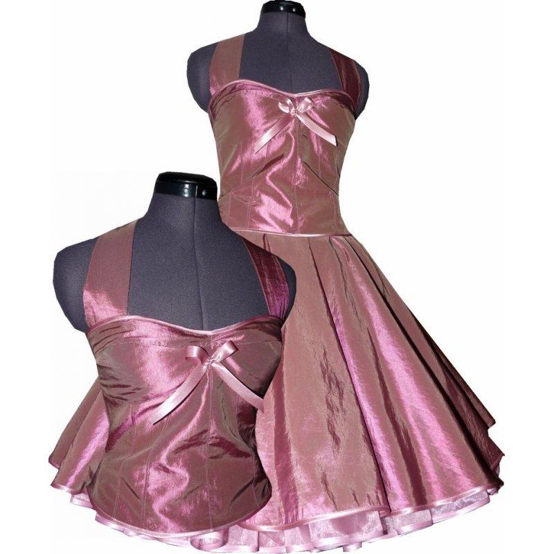 festliches taftkleid zum petticoat altrosa 50er jahre stil jugendweih. Black Bedroom Furniture Sets. Home Design Ideas