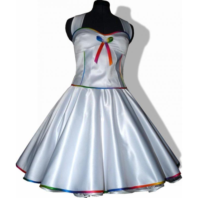 50er Brautkleid weiß Rockabilly Hochzeit zum Petticoat