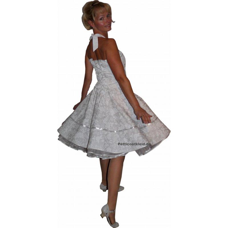 50er Jahre Korsage Hochzeitskleid Brautkleid zum Petticoat ...