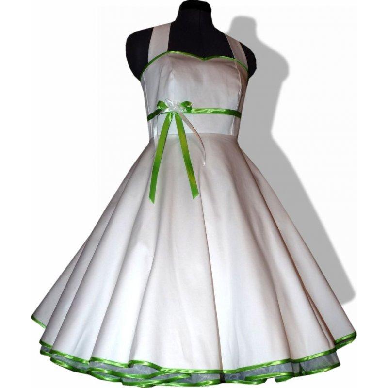50er jahre brautkleid zum petticoat hochzeitskleid wei farbakz. Black Bedroom Furniture Sets. Home Design Ideas