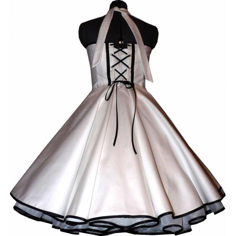 50er jahre brautkleid zum petticoat hochzeitskleid wei zarte b. Black Bedroom Furniture Sets. Home Design Ideas