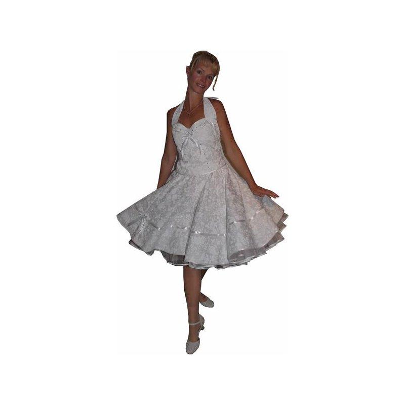 50er jahre korsage hochzeitskleid brautkleid zum petticoat blumen t. Black Bedroom Furniture Sets. Home Design Ideas