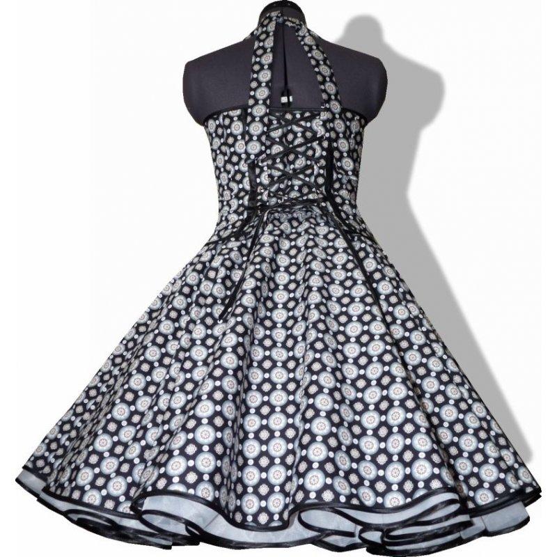 50er jahre retro kleid zum petticoat vintage schwarz wei e punk. Black Bedroom Furniture Sets. Home Design Ideas