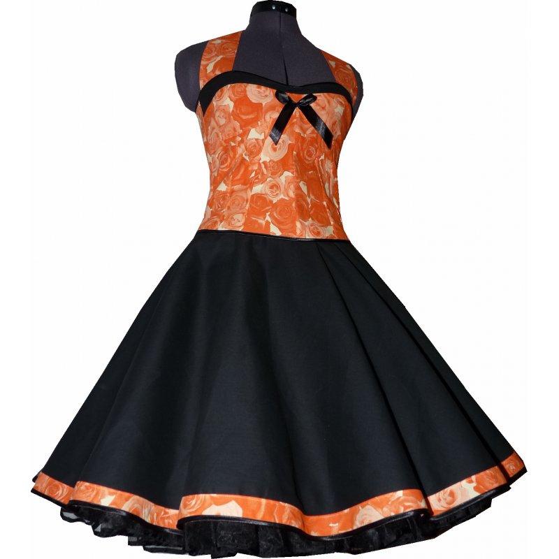 50er jahre kleid zum petticoat apriko rosen einzelst ck. Black Bedroom Furniture Sets. Home Design Ideas