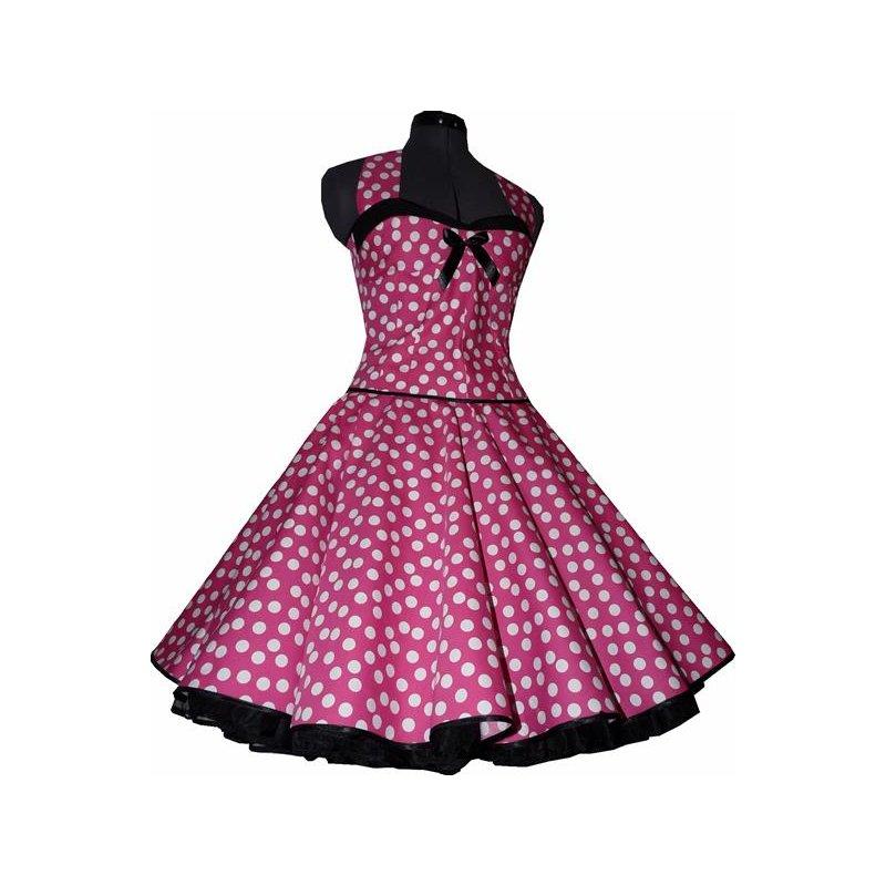 50er kleid zum petticoat pink wei e tanzende punkte. Black Bedroom Furniture Sets. Home Design Ideas