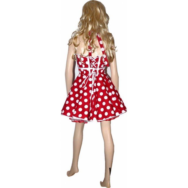 bbd233d0da93 Kleid Rot Weiße Punkte. 50er korsagen petticoat kleid rot kleine wei ...