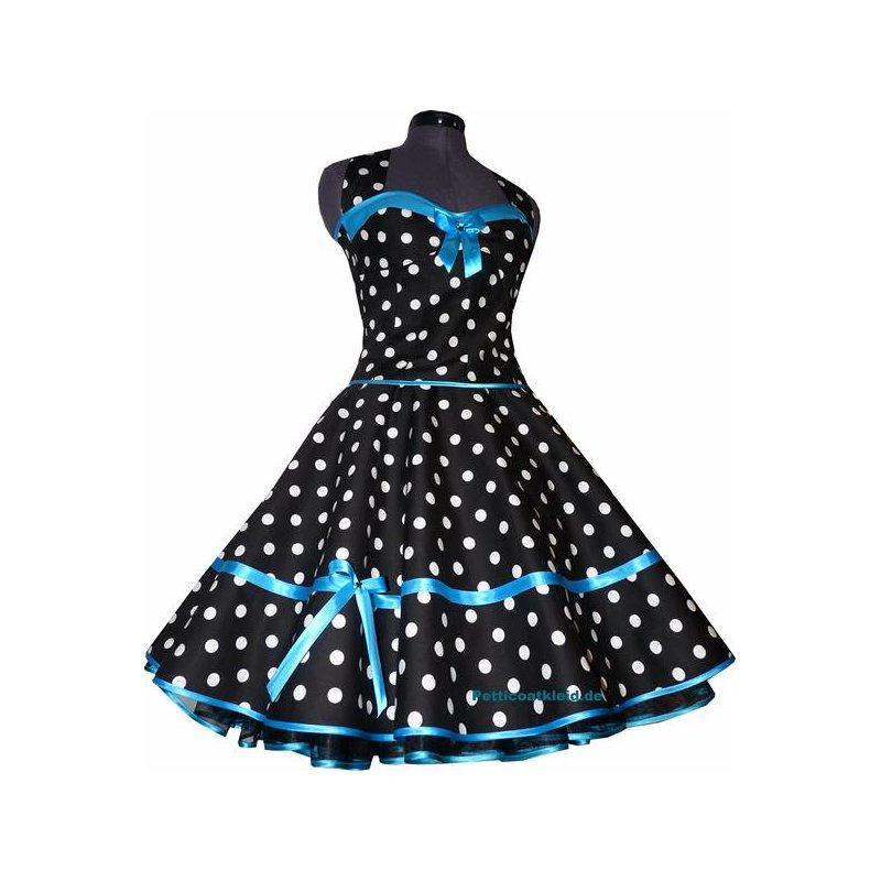 50er korsagen petticoat kleid punkte dekolte t rkis 38. Black Bedroom Furniture Sets. Home Design Ideas