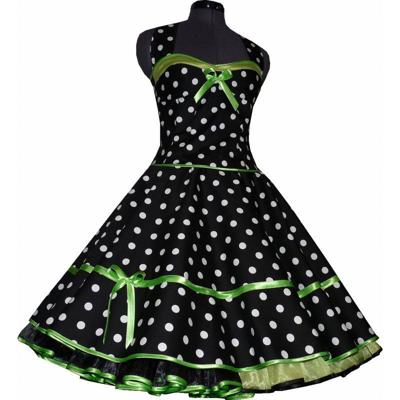 50er korsagen petticoat kleid punkte dekolte lindgr n. Black Bedroom Furniture Sets. Home Design Ideas