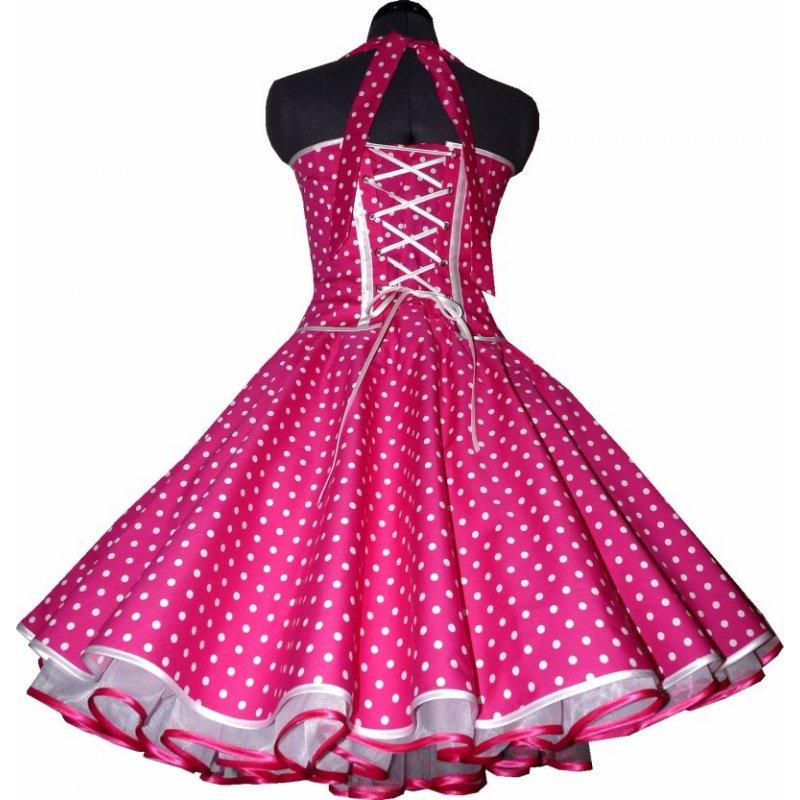 50er korsagen petticoat kleid rot kleine wei e punkte. Black Bedroom Furniture Sets. Home Design Ideas