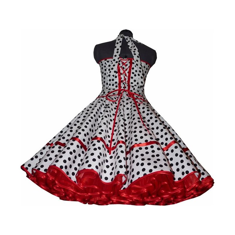 50er petticoat kleid korsage weiss schwarz rot tanzkleid der 50er. Black Bedroom Furniture Sets. Home Design Ideas