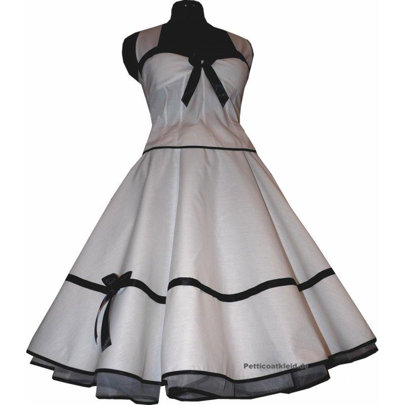 festliches wei es braut petticoat kleid korsage schwarz bzw rot. Black Bedroom Furniture Sets. Home Design Ideas