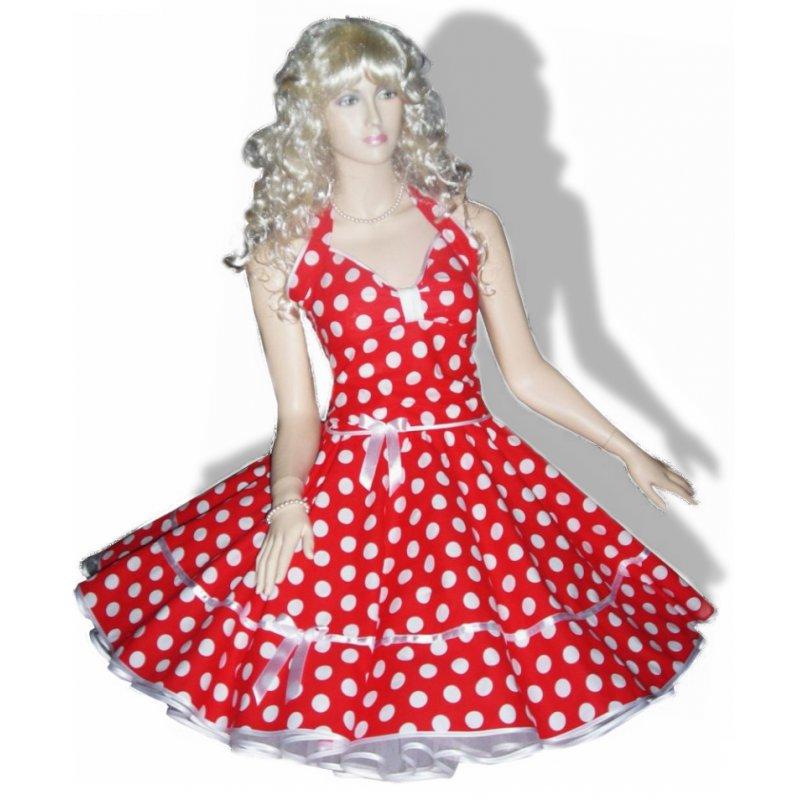 Kleid rot weie punkte