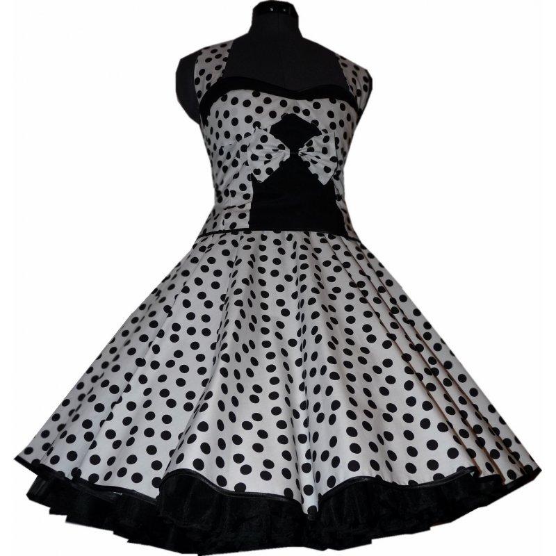 petticoat kleid 50th korsagen wei schwarze punkte. Black Bedroom Furniture Sets. Home Design Ideas