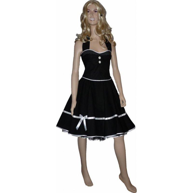petticoat kleid vintage schwarz dekoltee wei e kleine punkte. Black Bedroom Furniture Sets. Home Design Ideas