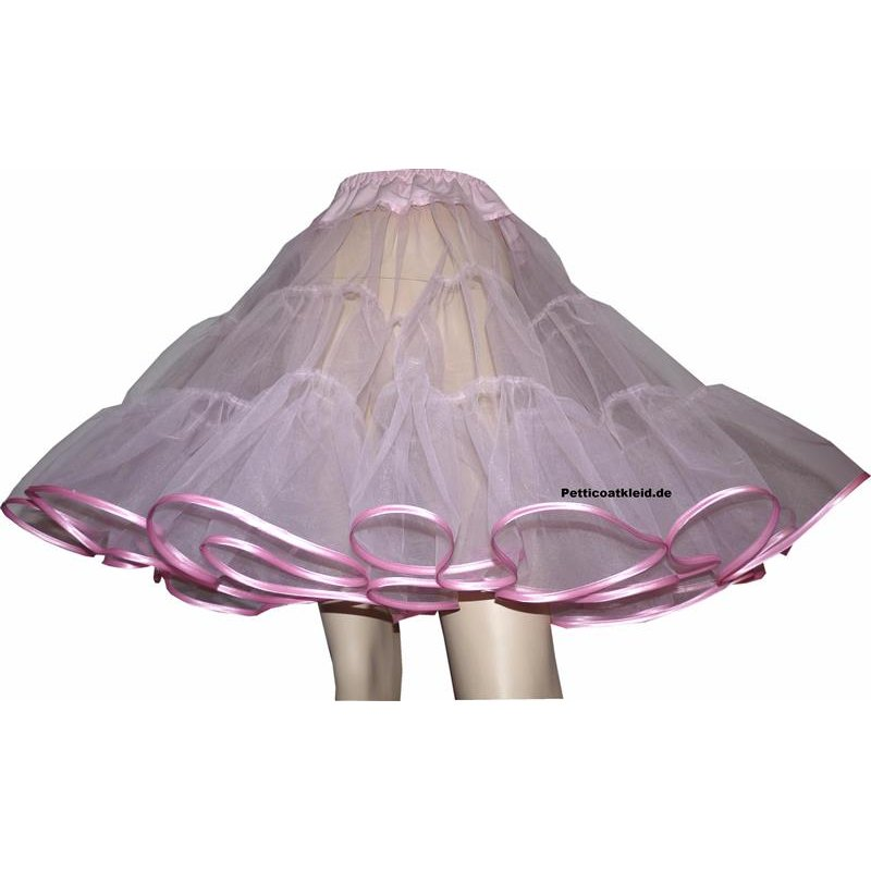 petticoat rosa einlagig tanzkleid der 50er. Black Bedroom Furniture Sets. Home Design Ideas