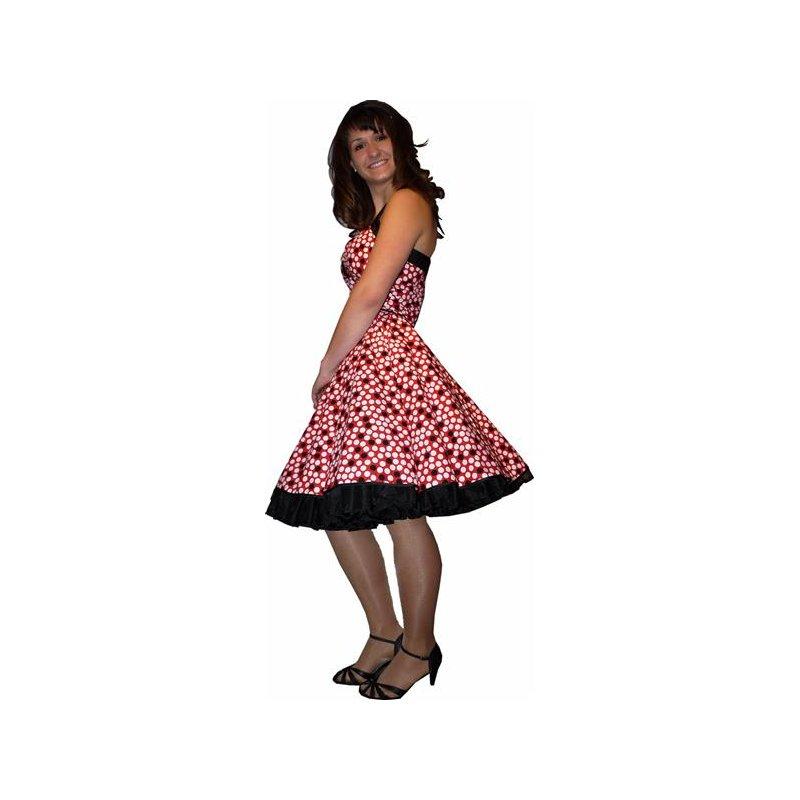 petticoatkleid rot mit wei en schwarzen punkten tanzkleid der. Black Bedroom Furniture Sets. Home Design Ideas