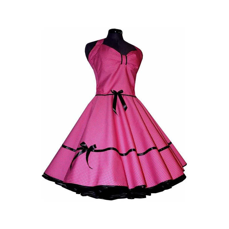 punkte petticoat kleid 2 pink kleine wei e tupfen tanzkleid d. Black Bedroom Furniture Sets. Home Design Ideas
