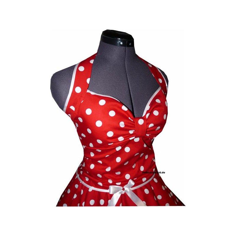 Punkte Petticoat Kleid 2 rot Tupfen weiß 15mm - Tanzkleid ...