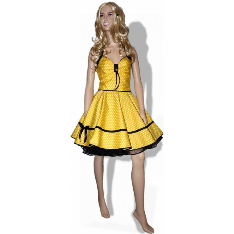 kleider in gelb schwarz mode kleider von 2018. Black Bedroom Furniture Sets. Home Design Ideas