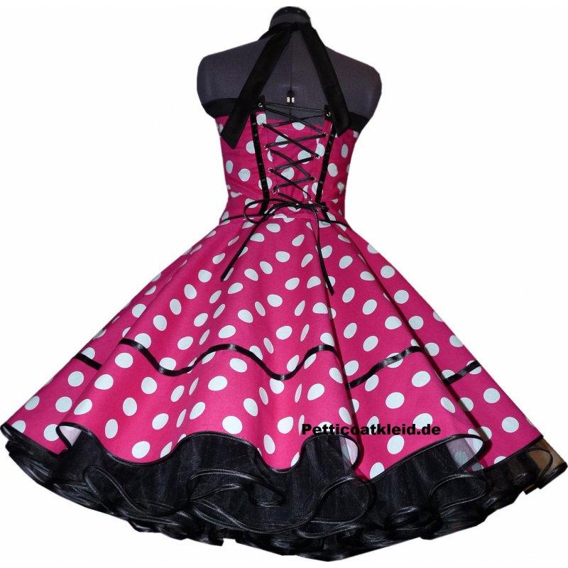 Kleid pink mit weissen tupfen – Stylischer Kleider