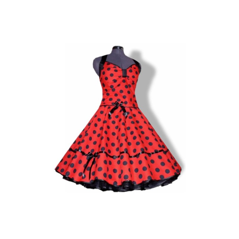 Rockabilly kleid rot gepunktet