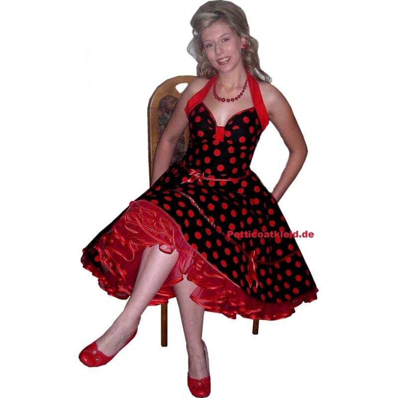 Rotes rockabilly kleid