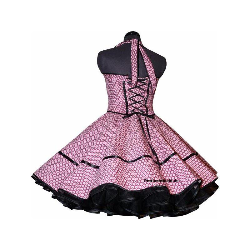 retrokleid tanzkleid 50er jahre pink wei e blumen tanzkleid d. Black Bedroom Furniture Sets. Home Design Ideas