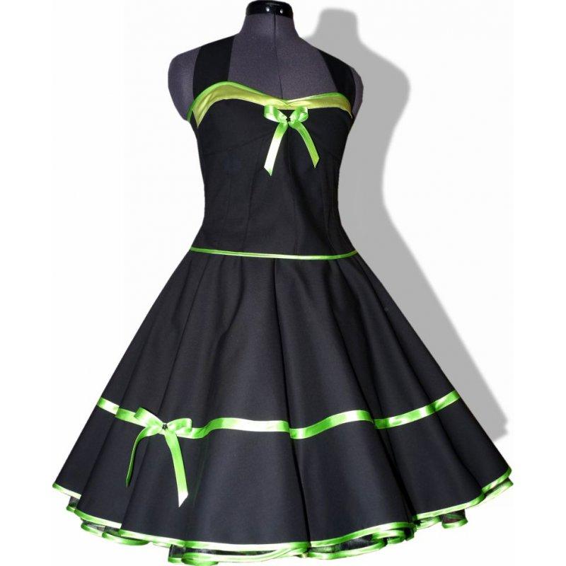 Schwarzes Petticoat Kleid Festkleid Vintage Band farbig