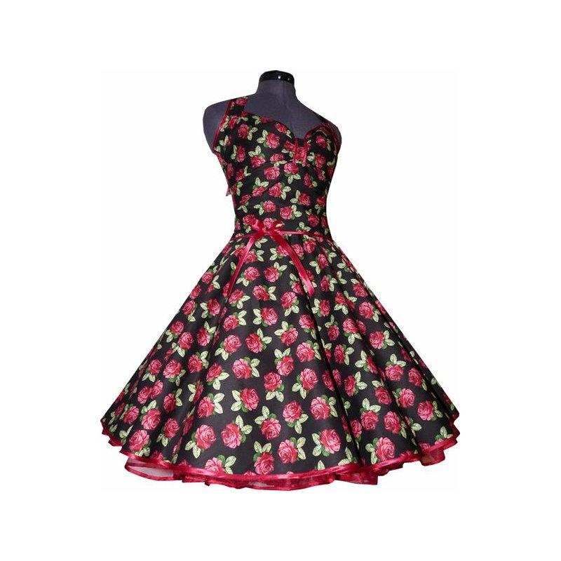 338efdf58b1c Bettwäsche Schwarz Mit Roten Rosen   Schwarzes petticoat kleid rote rosen  tanzkleid der er