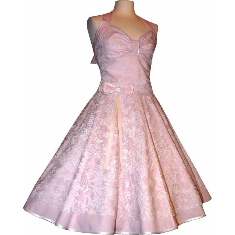 spitzenkleid hochzeitskleid 50er jahre zum petticoat rosa wei. Black Bedroom Furniture Sets. Home Design Ideas