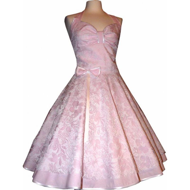 spitzenkleid hochzeitskleid 50er jahre zum petticoat rosa. Black Bedroom Furniture Sets. Home Design Ideas