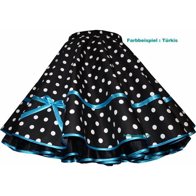 tanzrock schwarz wei e punkte 25mm mit farbigem akzent tanzkl. Black Bedroom Furniture Sets. Home Design Ideas
