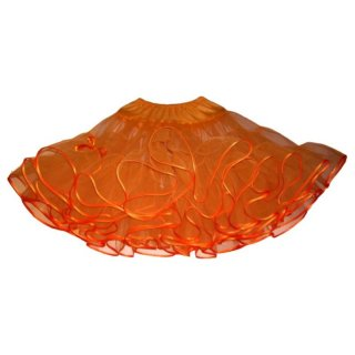 Petticoat orange voluminös 2 Lagen
