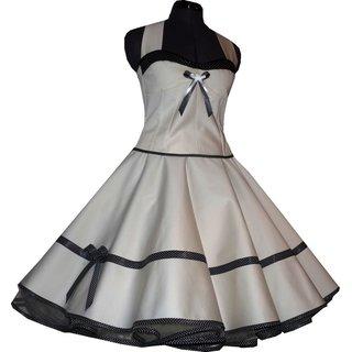 acf00261119cd3 50er Brautkleid Korsage weiß oder creme zum Petticoat Punkte ...