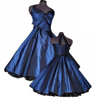 Zum Jugendweihe Jahre Taftkleid Royal Blau Festkleid 50er Petticoat kZiTXuOPw