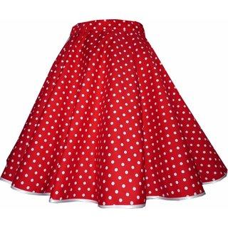 61ca1db0fa21 Tellerrock rot kleine weiße Punkte