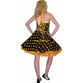 f318cffd24f8 Punktekleid Rockabilly schwarz große gelbe Tupfen - Tanzkleid-d