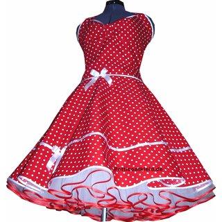 the best attitude 0acfa db6b6 Punkte Petticoat Kleid 2 rot kleine weiße Tupfen