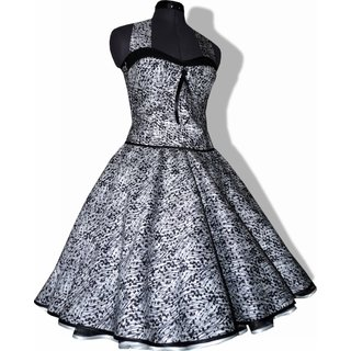 Kleid Zum Petticoat Weiss Schwarze Abstrakte Punkte Zur Jugendwe