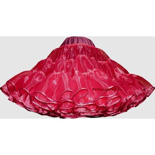 Organdy Glanzpetticoat bordeaux