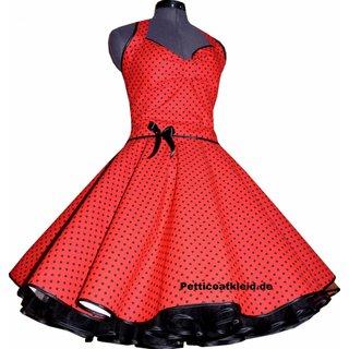 e7bf9c3cb90a Punkte Petticoat Kleid 2 rot kleine schwarze Tupfen - Tanzkleid-der-5