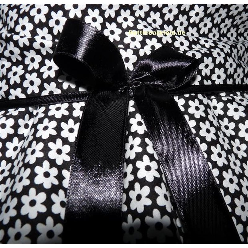 retrokleid 2 schwarz wei e blumen tanzkleid der 50er. Black Bedroom Furniture Sets. Home Design Ideas
