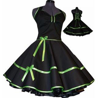 64b0d454dfa2 Rockabilly Kleid schwarz Petticoat mit Farbakzent nach Wahl