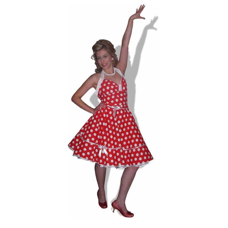 kleid rockabilly rot wei e gro e punkte tanzkleid der 5. Black Bedroom Furniture Sets. Home Design Ideas