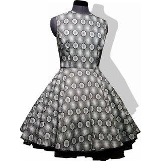 f4c3d702e4cbea Kleid zum Petticoat Rockabilly schwarz weiß grau Punkte Karo 32-44 ...